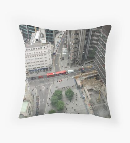 london from above Throw Pillow