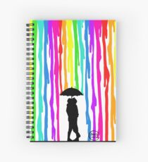 Rainbow rain Spiral Notebook