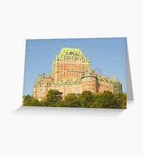 Chateau Frontenac Greeting Card