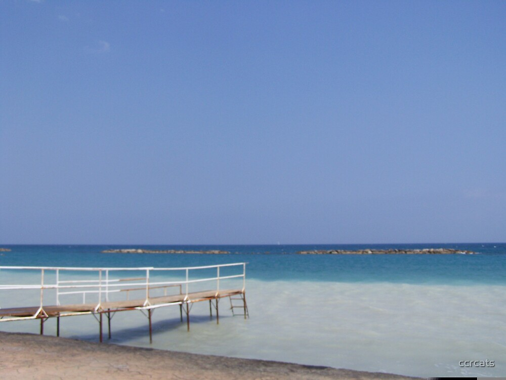 Jetty in Cyprus.  by ccrcats