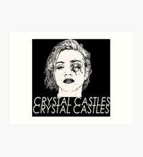 crystal castles kasdani Art Print