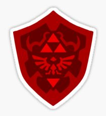 Red Hylian Shield Sticker