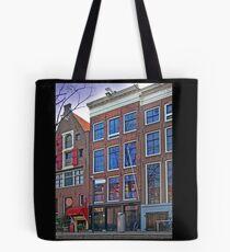 Anne Frank Home In Amsterdam Tote Bag