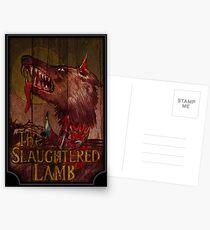 Amerikanischer Werwolf - Geschlachtetes Lamm Postkarten