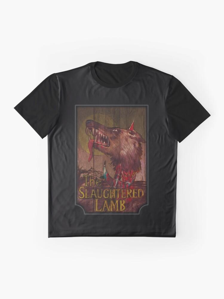 Alternative Ansicht von Amerikanischer Werwolf - Geschlachtetes Lamm Grafik T-Shirt