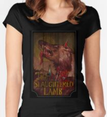 American Werewolf - Slaughtered Lamb Women's Fitted Scoop T-Shirt