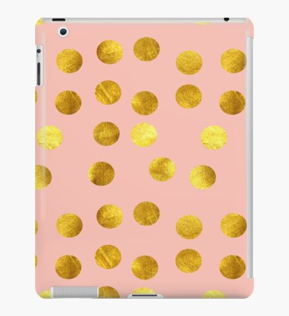 Gold and pink dots iPad Case/Skin