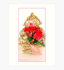 Gold Christmas Tree Art Print