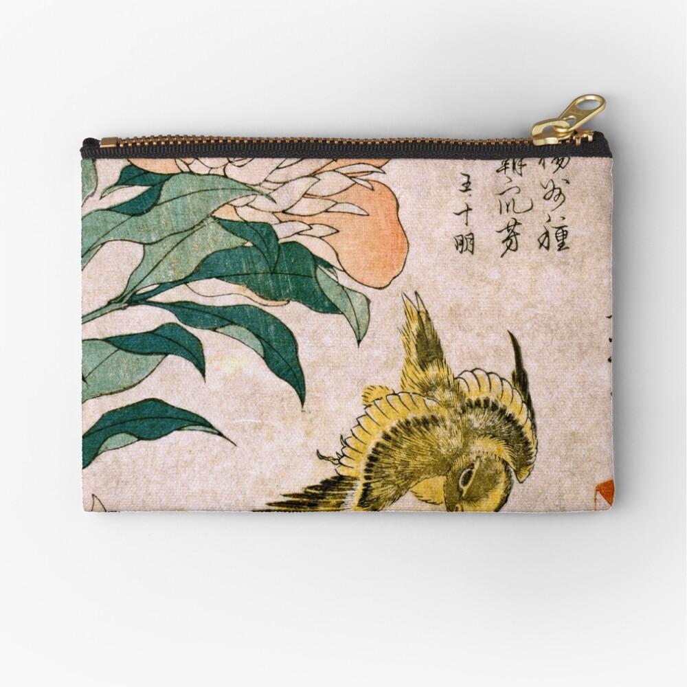 Hokusai Katsushika - Peonía y Canarias Bolsos de mano