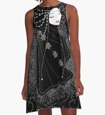 Lady in Black A-Line Dress