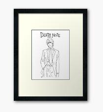 Death Note - Light Yagami (KIRA) - BLACK Framed Print