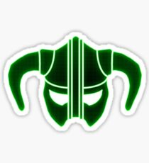 Green Tech Skyrim Helmet Sticker