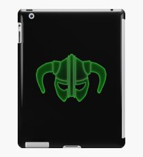 Green Tech Skyrim Helmet iPad Case/Skin