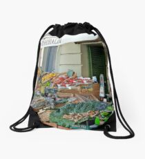 Fruit And Produce Lady Drawstring Bag
