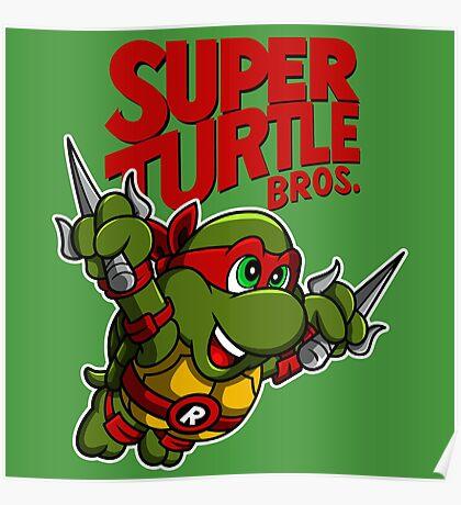 Super Turtle Bros - Raph Poster