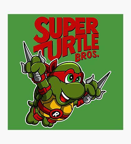 Super Turtle Bros - Raph Photographic Print