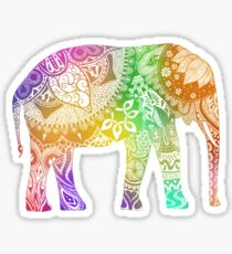artsy elephant  Sticker