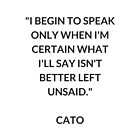 CATO  Stoic Philosophy Quote by IdeasForArtists