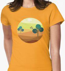 Minimalist Tshirt Design Landscape Retro T-Shirt