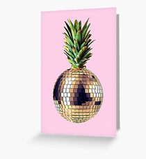 Ananas party (pineapple) pink version Greeting Card