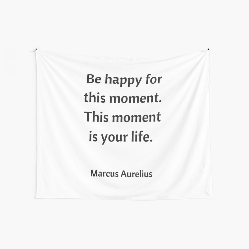 BE HAPPY FOR THIS MOMENT - STOIC QUOTE Wall Tapestry