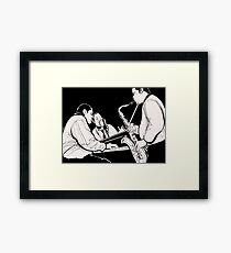 """""""Sax And Piano"""" Framed Print"""