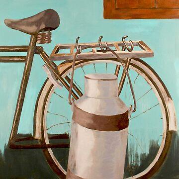 Rural Milkman Cycle by Rampatil