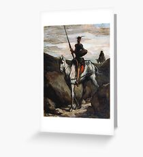 Honore Daumier - Don Quixote In The Mountains Greeting Card