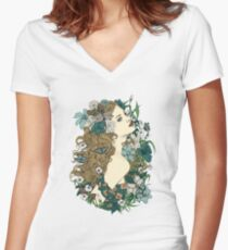 Scent Of Spring Fitted V-Neck T-Shirt