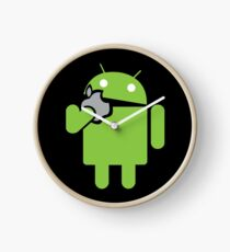 Android eats an Apple Clock