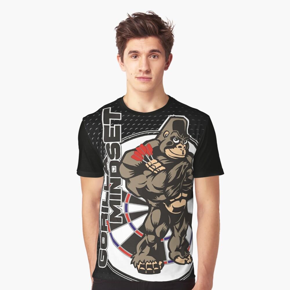 Gorilla Mindset Darts Shirt Graphic T-Shirt Front