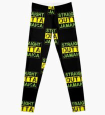 Straigt Outta Jamaica - Proud Jamaican Leggings