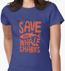 Save the Whale Sharks Womens Fitted T-Shirt