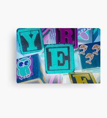 Children's Alphabet Blocks Canvas Print