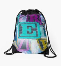 Children's Alphabet Blocks Drawstring Bag
