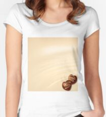 chocolate hearts Women's Fitted Scoop T-Shirt
