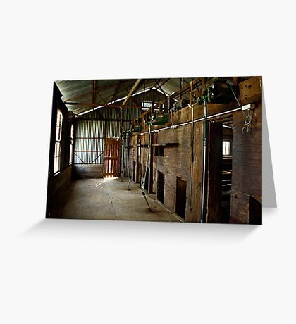 Old Shearing Shed Greeting Card