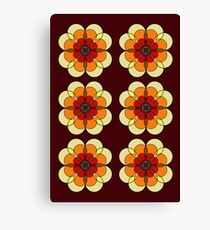 Retro Marigold Canvas Print