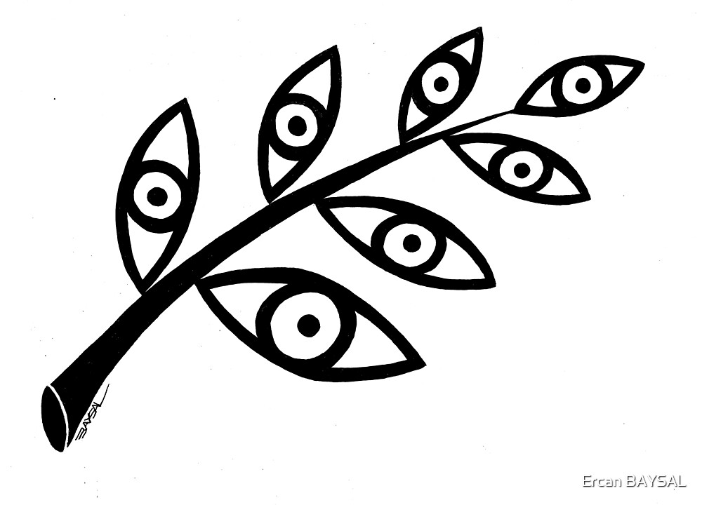 Leaf and eyes by Ercan BAYSAL
