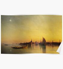 Ivan Ayvazovsky - Venice From The Lagoon At Sunset Poster