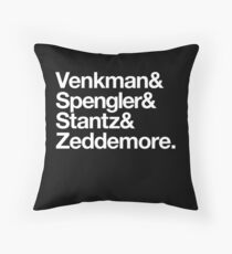 Venkman & Spengler & Stantz & Zeddemore Throw Pillow