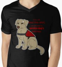If you can read this - Service Dog Mens V-Neck T-Shirt