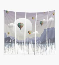 Grunge Dripping Sunset Celebration Wall Tapestry
