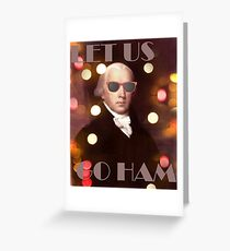 Alexander Hamilton is a Party Animal Greeting Card