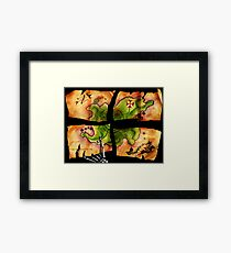 The Big Whoop four-pieced treasure map Framed Print