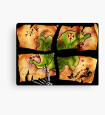 The Big Whoop four-pieced treasure map Canvas Print