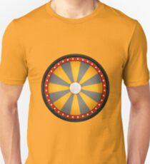 wheel fortune sixteen black orange Unisex T-Shirt