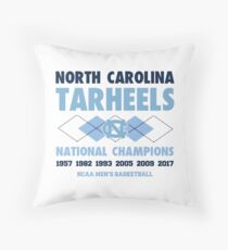 NCAA National Champions UNC White Throw Pillow