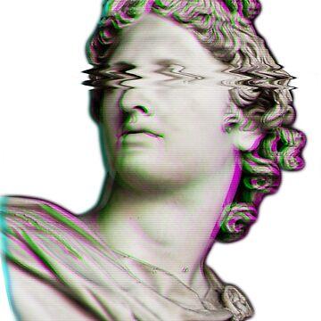 Vaporwave Apollo Head by djentleman5