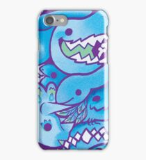 Dinosaur Pattern in Blue iPhone Case/Skin